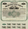 Scripophily.com Is Offering an Original Disston Land Company Bond Certificate Hand Signed by Hamilton Disston Dated in 1894