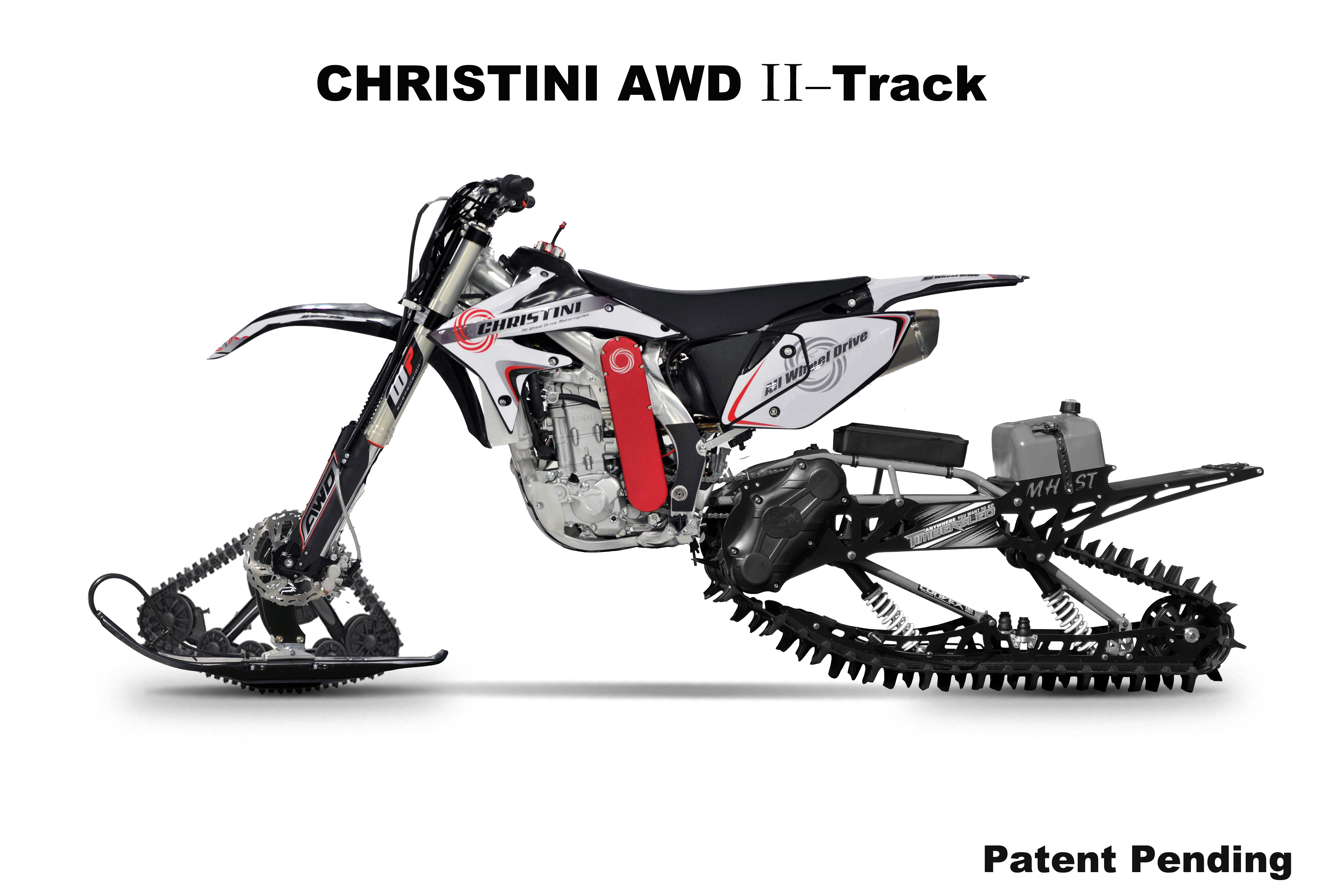 CHRISTINI All Wheel Drive to Launch II-Track Snow Utility Bike