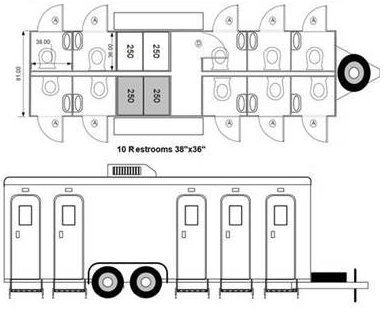 Portable Restroom Trailers, LLC Offers Solution to North