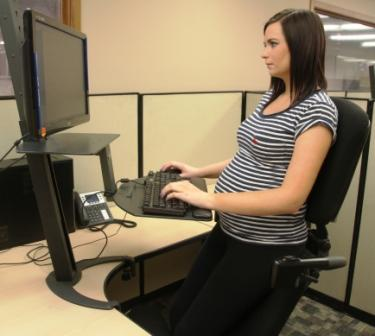 Stance Angle Chair May Provide Working Pregnant Women the