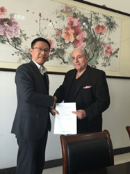 ENRGISTX Signing of exclusive distribution agreement with Shuangliang Eco-Energy