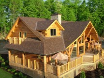 Big Log Cabin Home House Plans