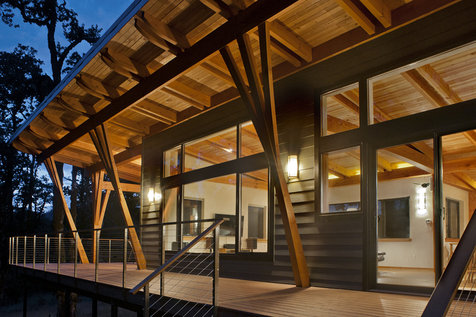 Contemporary Design Gains Momentum with New Energy Works Timberframers Timber Frame Construction