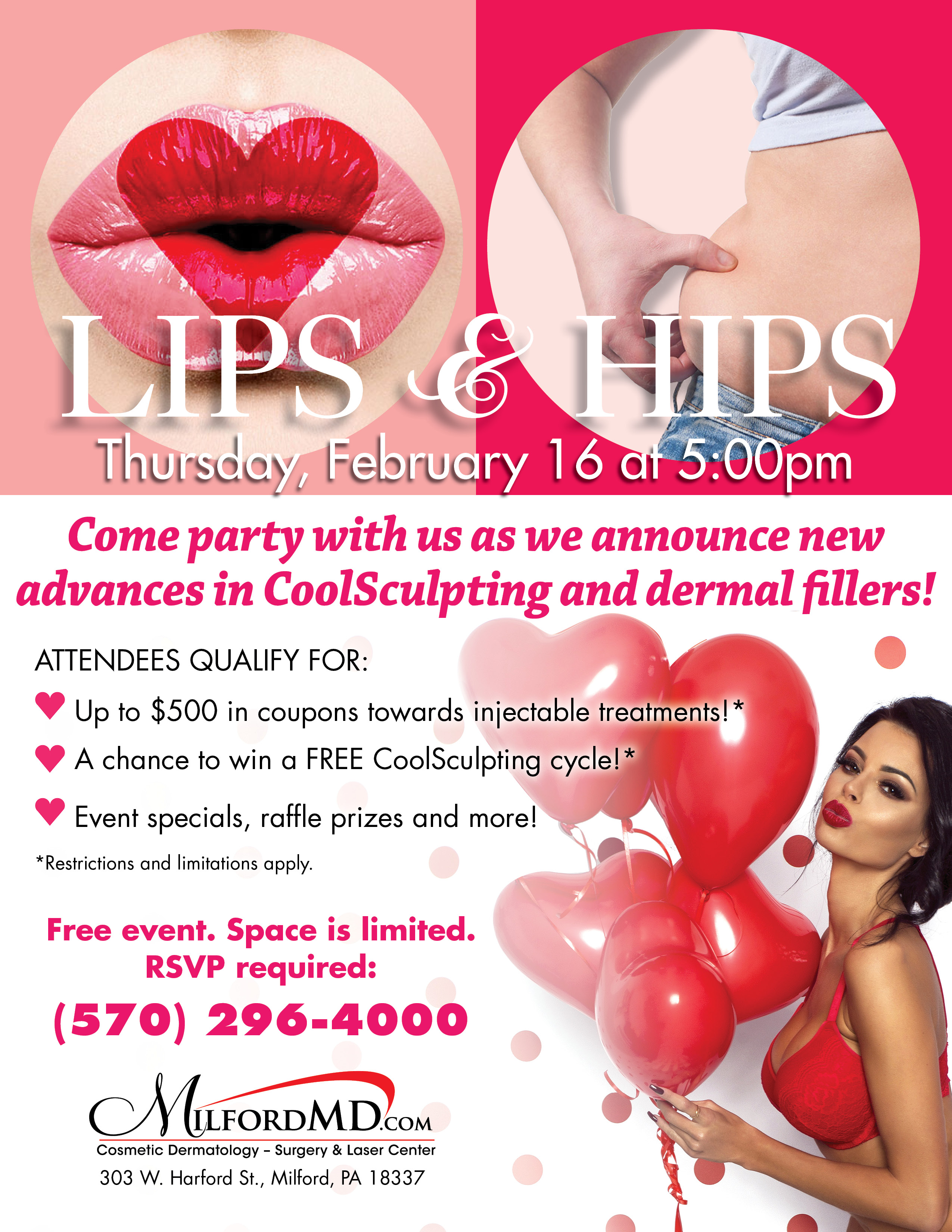 The Public Is Invited To Milfordmd's Lips & Hips Event On