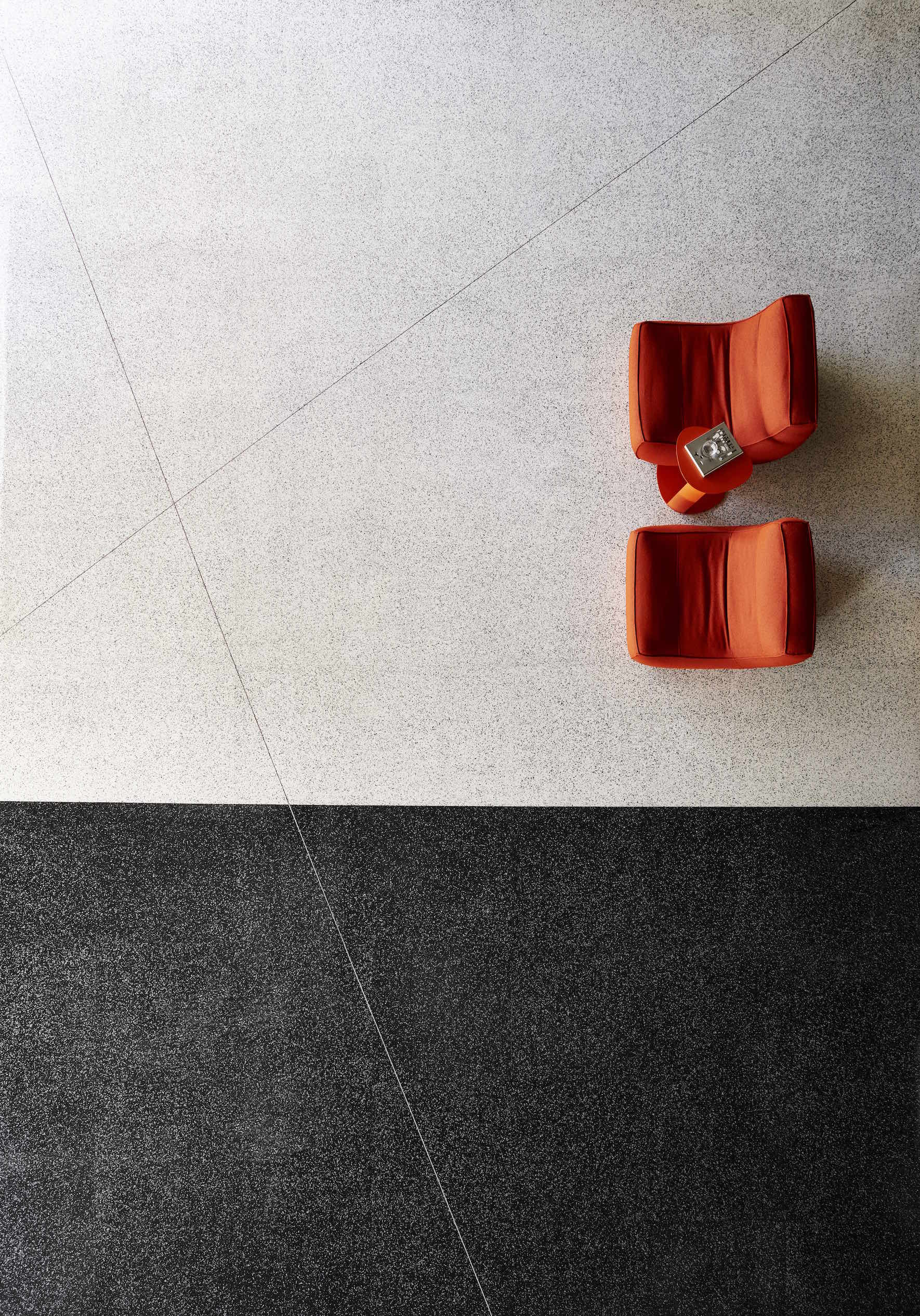 Patcrafts Newest AdMix Resilient Tile Emulates Terrazzo