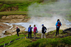 Backroads Guests Hiking in Iceland