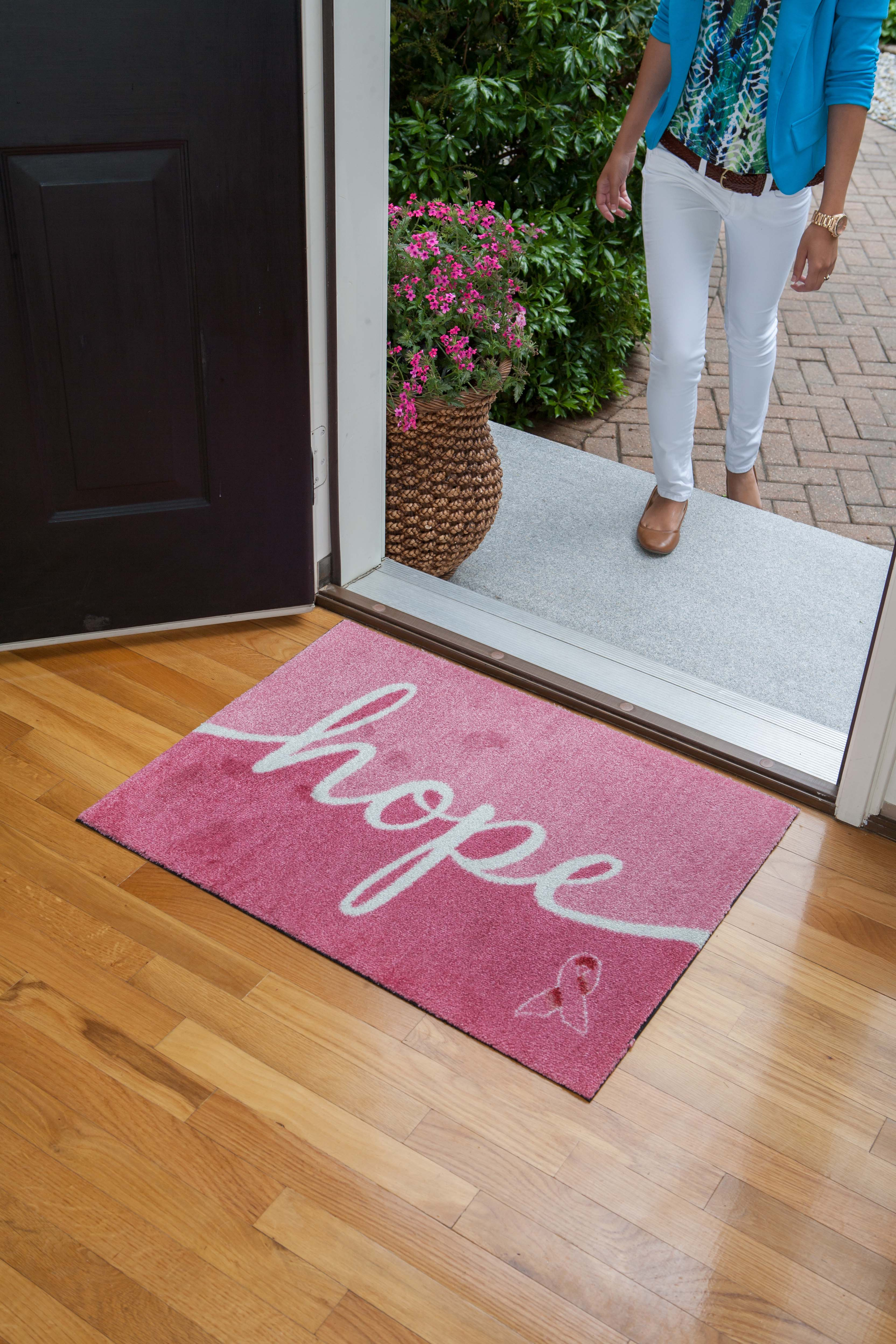 Carpet One Reveals 2017 Pink Ribbon Welcome Mat Designs To