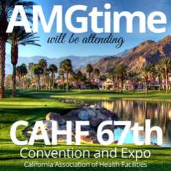 AMGtime exhibiting their time and attendance at the annual California Association of Health Facilities convention & expo.