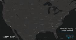 STREETLYTICS POWERS HOURLY TRAFFIC MAP OF THE USA