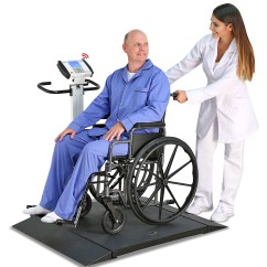 Detecto Chair Scale Bassett Leather And Ottoman Improves Platform Of Popular 6550 Wheelchair