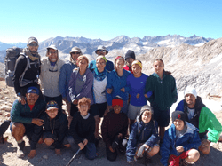 Students crossing the Great Western Divide, en route to Mt. Whitney.