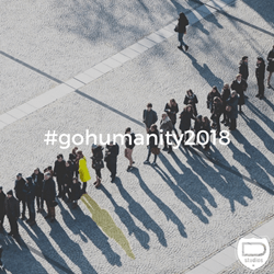 Designing North Studios is introducing a year-long campaign titled #gohumanity2018, encouraging everyone to share good deeds, show perseverance, positivity.