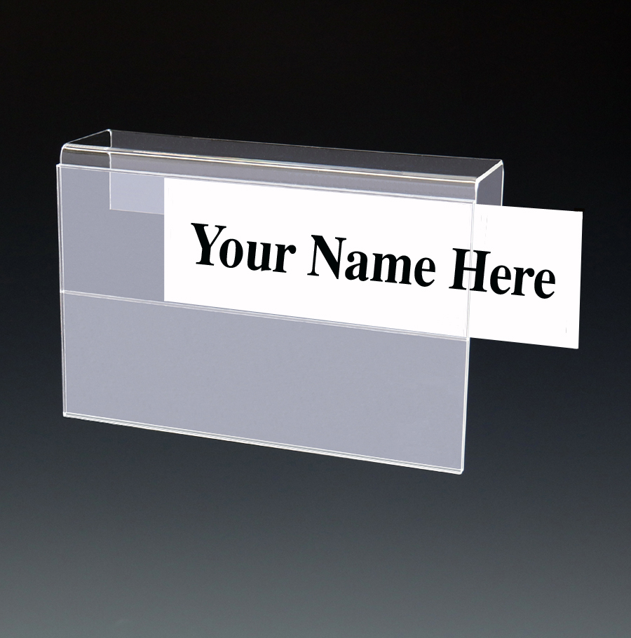 Acrylic MultiTier Name Plate Holders for Cubicles Walls