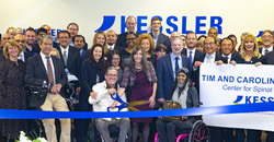 Attendees at the ribbon cutting for the Tim and Caroline Reynolds Center for Spinal Stimulation at Kessler Foundation.