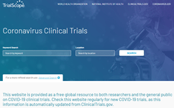 Home page of new online resource for COVID-19 clinical trials