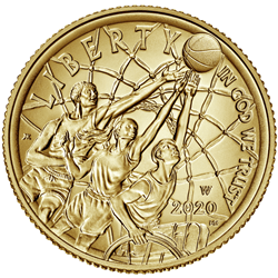 Basketball Hall of Fame $5 Gold Coin