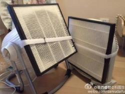 DIY filter 图为售价200元的自制空气净化器