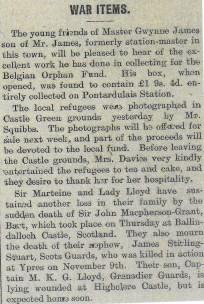1914 WW1 week 19 Sir Marteine and Lady Lloyd
