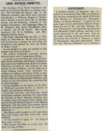 1914 WW1 week20 distress committee and pentrecourt