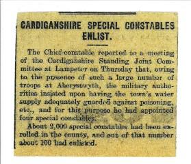 1915 WW1 week 25 Special Constables enlist