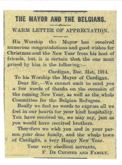 1915 WW1 week 25 The mayor and the Belgians