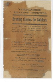 1915 WW1 week 32 Evening classes