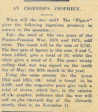 1915 WW1 week 49 Prophecy