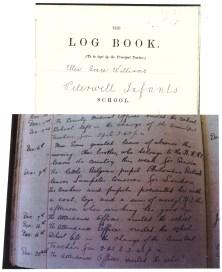 1915 week 72 Peterwell Infants Log Book