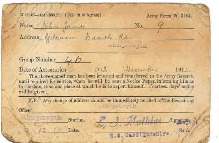 1915 weeks 70 & 71 Army form 3194