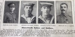 1916 week 83 CN 3-3-16 Aberystwyth sailors and soldiers