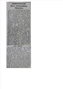 1916 week 84 CN 10-3-16 Aberystwyth tribunals