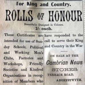 1916 week 87 CN 31-3-16 Rolls of Honour