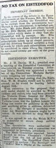 1916 week 90 CN 21-4-16 Eisteddfod