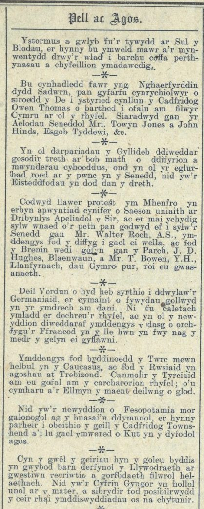 1916 week 90 CTA 21-4-16 Pell ac Agos