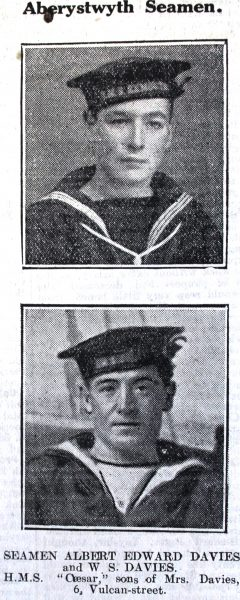 1916 WW1 week 91 CN 28-4-16 Aber seamen