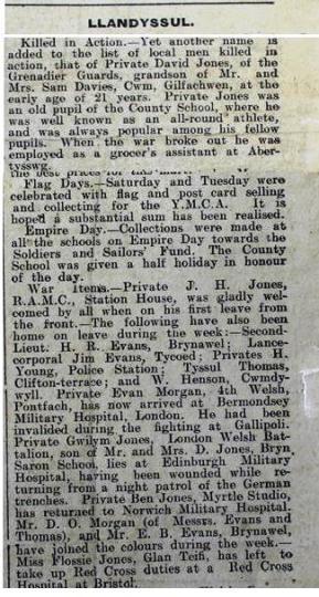 1916 week 95 CTA 26-5-16 Llandysul