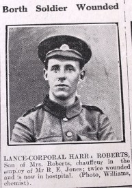 Borth soldier wounded