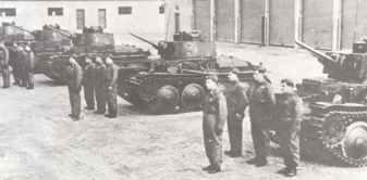 Ex-Czech LT vz.38 tanks of the Slovak army