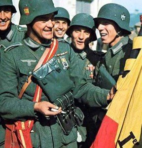 Spanish soldiers of the Blue Division on the Eastern Front.