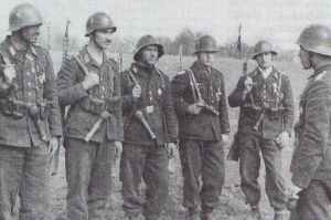 Bulgarian paratroopers in Macedonia, 1943.