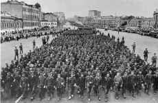 German prisoners walking through Moscow
