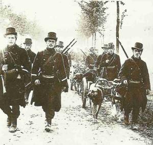 retreating Belgian troops