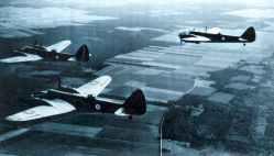 A trio of Bristol Blenheim IV bombers.