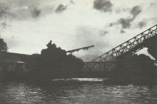 Tanks of the British 11th Armoured Division crossing the Seine