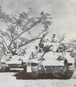 Chinese Stuart tanks on the Ledo road