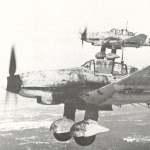 Junkers Ju 87 D Stukas on their way to a target near Leningrad