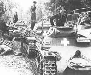 German Panzer Division after the first border fights in Poland