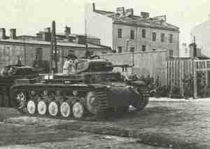 German Panzer II in Warsaw