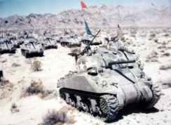 M4 Sherman tanks in manoeuvres