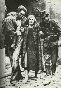 Family in Mannheim after air raid